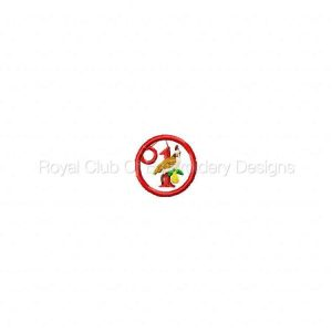 Royal Club Of Embroidery Designs - Machine Embroidery Patterns 12 Days of Christmas Charms Set