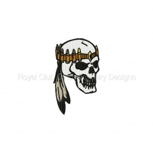 Royal Club Of Embroidery Designs - Machine Embroidery Patterns 2009 Bike Week Skulls Set