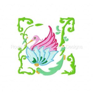 Royal Club Of Embroidery Designs - Machine Embroidery Patterns Jacobean Tropical Birds 2 Set