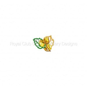 Royal Club Of Embroidery Designs - Machine Embroidery Patterns 4x4 Autumn Leaves Set