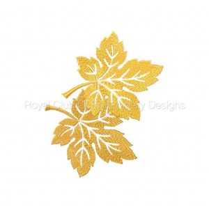 Royal Club Of Embroidery Designs - Machine Embroidery Patterns 5x7 Autumn Leaves Set