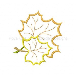 Royal Club Of Embroidery Designs - Machine Embroidery Patterns Large Openwork Fall Leaves Set