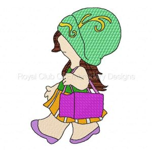 Royal Club Of Embroidery Designs - Machine Embroidery Patterns 5x7 Sunbonnet Girls Set