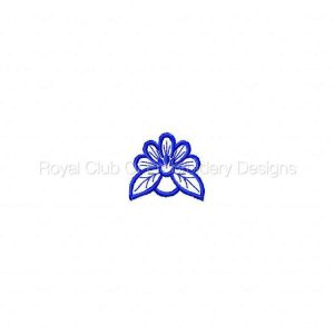 Royal Club Of Embroidery Designs - Machine Embroidery Patterns Delicate Fancy Necklines 2 Set