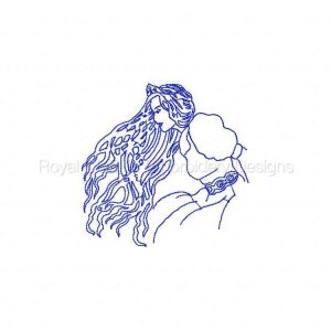 Royal Club Of Embroidery Designs - Machine Embroidery Patterns BW Princess Set