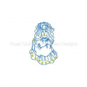 Royal Club Of Embroidery Designs - Machine Embroidery Patterns Bride Color Works Set