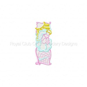 Royal Club Of Embroidery Designs - Machine Embroidery Patterns FSL Color Lace Religious Bookmarkers Set