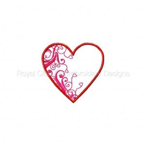 Royal Club Of Embroidery Designs - Machine Embroidery Patterns Decorative Hearts Set