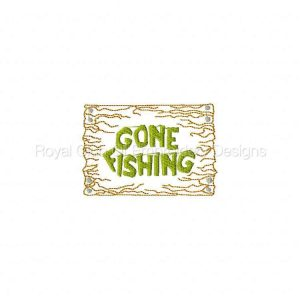 Royal Club Of Embroidery Designs - Machine Embroidery Patterns Gone Fishing Set
