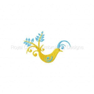 Royal Club Of Embroidery Designs - Machine Embroidery Patterns Peacocks Set