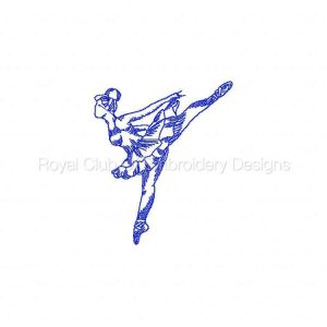 Royal Club Of Embroidery Designs - Machine Embroidery Patterns RW Ballet 2 Set