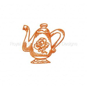 Royal Club Of Embroidery Designs - Machine Embroidery Patterns DD RW Teapots Set