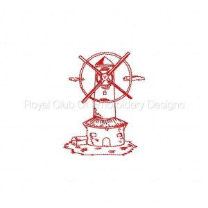 Royal Club Of Embroidery Designs - Machine Embroidery Patterns DD RW Windmills Set