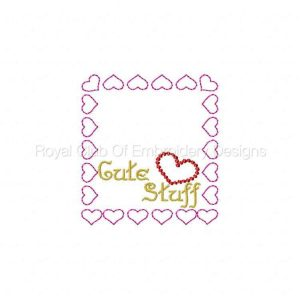Royal Club Of Embroidery Designs - Machine Embroidery Patterns Valentine Bag Toppers Set