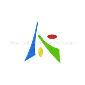 Royal Club Of Embroidery Designs - Machine Embroidery Patterns Abstract Set