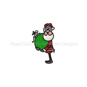 Royal Club Of Embroidery Designs - Machine Embroidery Patterns A Kids View of Santa Set
