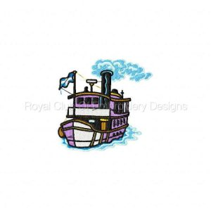 Royal Club Of Embroidery Designs - Machine Embroidery Patterns All Aboard Set