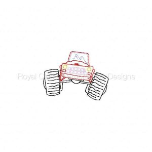Royal Club Of Embroidery Designs - Machine Embroidery Patterns All Terrain Trucks Set