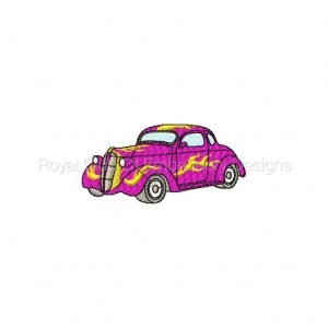 Royal Club Of Embroidery Designs - Machine Embroidery Patterns American Hot Rods Set