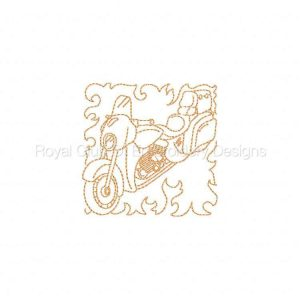 Royal Club Of Embroidery Designs - Machine Embroidery Patterns American Rider Blocks Set