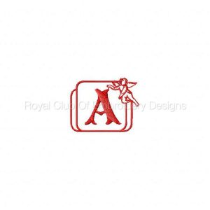 Royal Club Of Embroidery Designs - Machine Embroidery Patterns DD Angel Alphabet Set