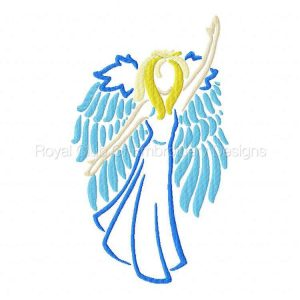 Royal Club Of Embroidery Designs - Machine Embroidery Patterns Angel Colorwork Set