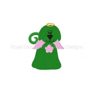 Royal Club Of Embroidery Designs - Machine Embroidery Patterns Angel Dogs Set