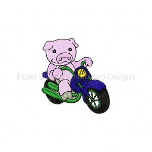 Royal Club Of Embroidery Designs - Machine Embroidery Patterns Animal Bikers 2 Set