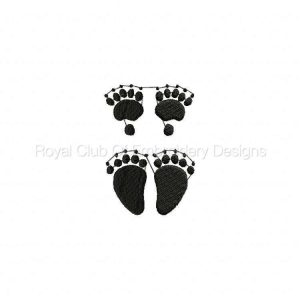 Royal Club Of Embroidery Designs - Machine Embroidery Patterns Animal Prints Set