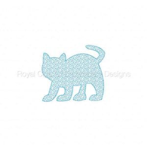 Royal Club Of Embroidery Designs - Machine Embroidery Patterns Animal Stippling Set