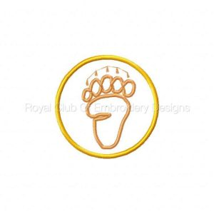 Royal Club Of Embroidery Designs - Machine Embroidery Patterns Animal Tracks Coasters Set