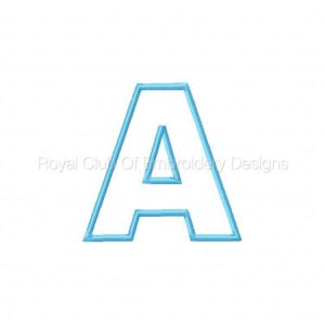 Royal Club Of Embroidery Designs - Machine Embroidery Patterns Applique Alphabet 2 Set