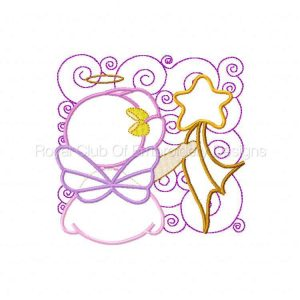 Royal Club Of Embroidery Designs - Machine Embroidery Patterns Applique Bonnet Angels Set