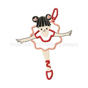 Royal Club Of Embroidery Designs - Machine Embroidery Patterns Applique Ballet Dancers Set