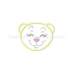 Royal Club Of Embroidery Designs - Machine Embroidery Patterns Applique Bear Faces Set