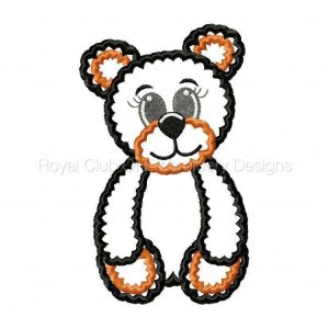 Royal Club Of Embroidery Designs - Machine Embroidery Patterns Applique Benny Bear Set