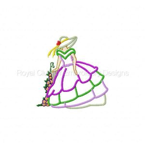 Royal Club Of Embroidery Designs - Machine Embroidery Patterns Applique Bonnets and Birds Set