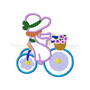 Royal Club Of Embroidery Designs - Machine Embroidery Patterns Applique Bonnets on Bikes Set