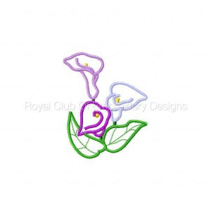 Royal Club Of Embroidery Designs - Machine Embroidery Patterns Applique Calla Lilies Set