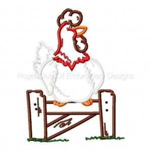 Royal Club Of Embroidery Designs - Machine Embroidery Patterns Applique Chickens Set