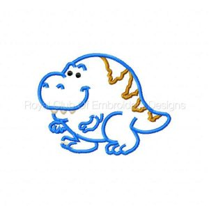 Royal Club Of Embroidery Designs - Machine Embroidery Patterns Applique Chubby Dinosaurs Set