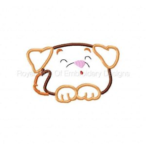 Royal Club Of Embroidery Designs - Machine Embroidery Patterns Applique Chubby Puppies Set