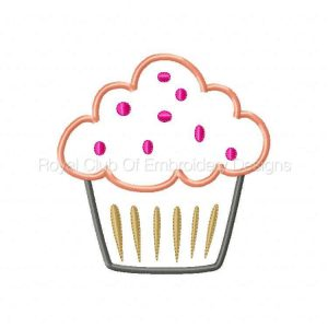 Royal Club Of Embroidery Designs - Machine Embroidery Patterns Applique Cupcakes 2 Set