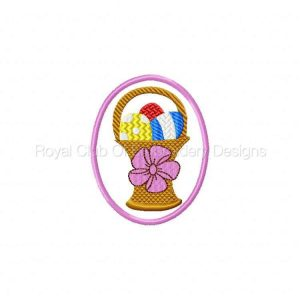 Royal Club Of Embroidery Designs - Machine Embroidery Patterns Applique Easter Eggs Set