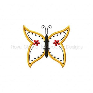 Royal Club Of Embroidery Designs - Machine Embroidery Patterns Applique Fairy Wing Butterflies Set