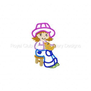 Royal Club Of Embroidery Designs - Machine Embroidery Patterns Applique Fancy Girls Set