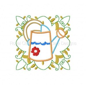 Royal Club Of Embroidery Designs - Machine Embroidery Patterns Applique Garden Quilt Blocks Set