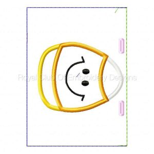 Royal Club Of Embroidery Designs - Machine Embroidery Patterns Applique Halloween Treat Bags Set