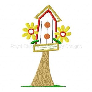 Royal Club Of Embroidery Designs - Machine Embroidery Patterns Applique Birdhouses Set