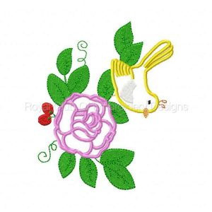 Royal Club Of Embroidery Designs - Machine Embroidery Patterns Applique Birds and Flowers Set
